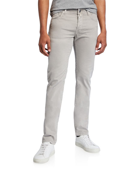 Jacob Cohen Men's Brushed Denim 5-Pocket Jeans , Light Gray