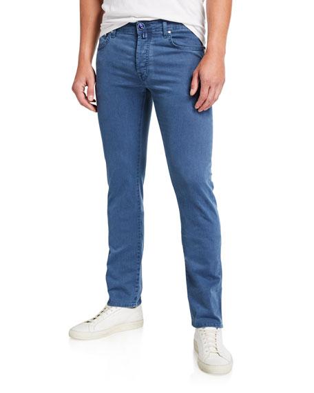 Jacob Cohen Men's Brushed 5-Pocket Jeans, Light Blue