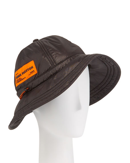 Heron Preston Men's Ghost Fisherman Hat with Logo Patch