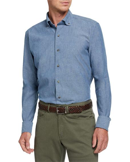 Peter Millar Men's Textured-Pattern Sport Shirt