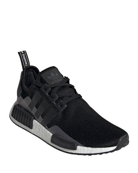 Adidas Men's NMD R1 3-Stripes® Monogram Leather Sneakers