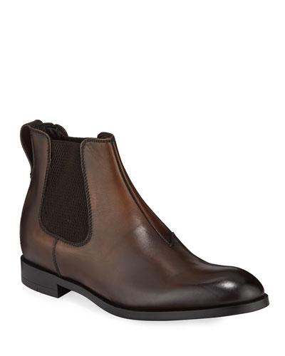 Men's Siena Flex Burnished Leather Chelsea Boots