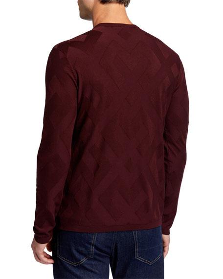 Emporio Armani Men's Tonal-Pattern Crewneck Sweater