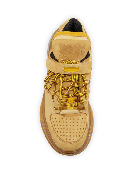 Maison Margiela Men's Union Retro Fit Suede Sneakers