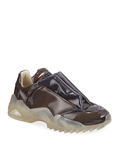 Maison Margiela Men's New Future Laminated Low-Top Sneakers