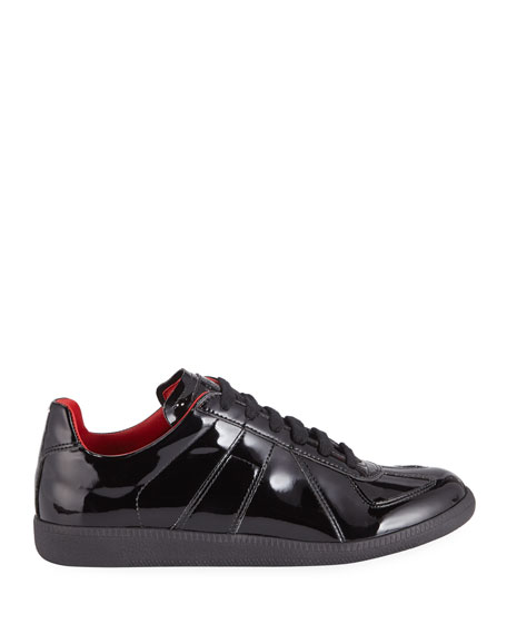 Image 3 of 3: Men's Replica Lace-Up Patent  Sneakers
