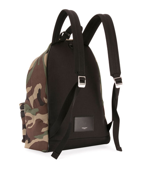 Saint Laurent Men's City Camo Canvas Backpack