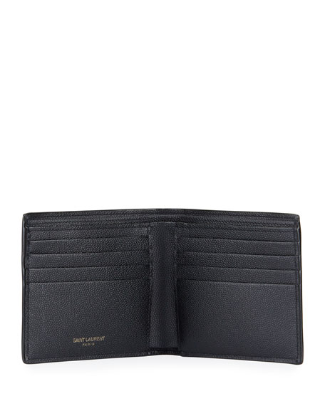 Saint Laurent Men's YSL Monogram Leather Wallet