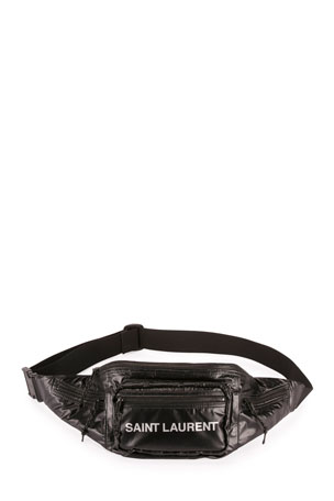 Saint Laurent Men's Logo Print Belt Bag/Fanny Pack