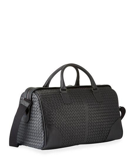 Bottega Veneta Men's Woven Leather Duffel Bag