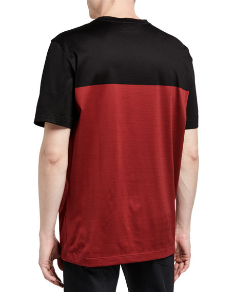 Salvatore Ferragamo Men's Colorblocked Logo T-Shirt