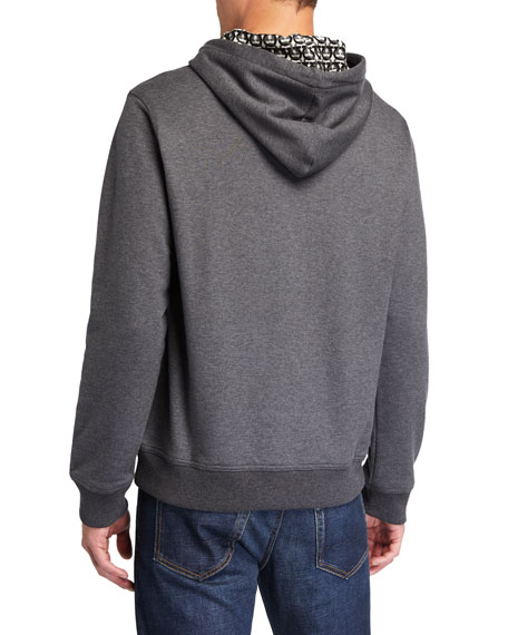 Salvatore Ferragamo Men's Gancini-Print Pullover Hoodie