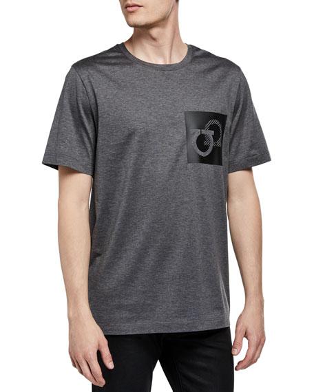 Salvatore Ferragamo Men's Gancini Patch T-Shirt