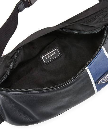 Prada Men;s Tessuto Vitello Belt Bag