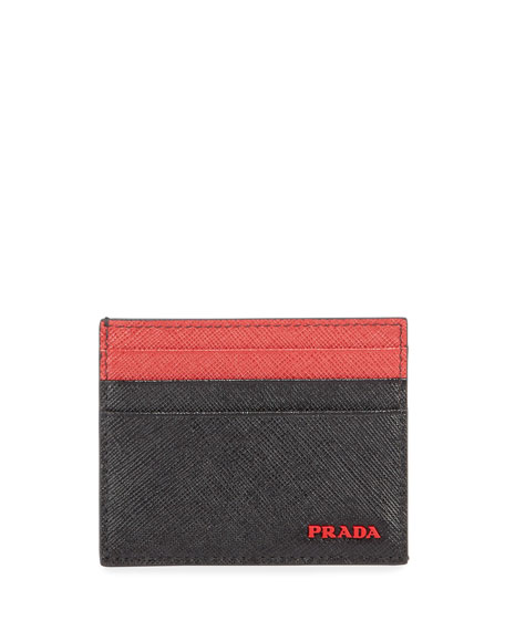 Prada Men's Colorblock Card Case