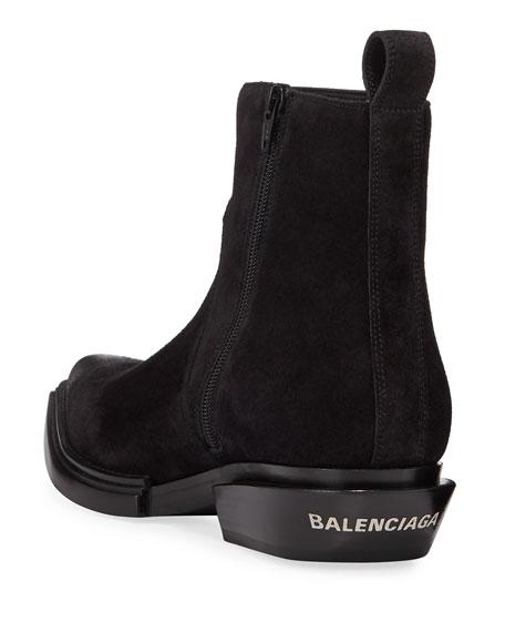 Balenciaga Men's Suede Santiag Booties