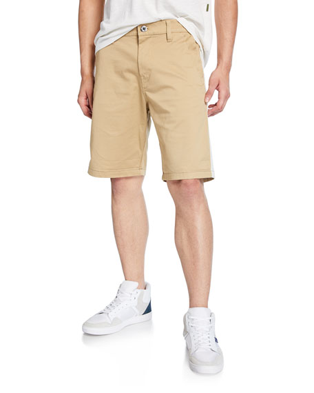 G-Star Men's Bornson Straight-Leg Twill Shorts