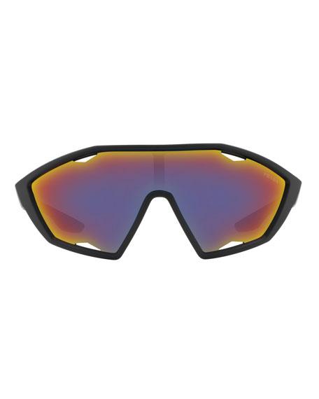 Prada Men's Active Nylon Shield Sunglasses