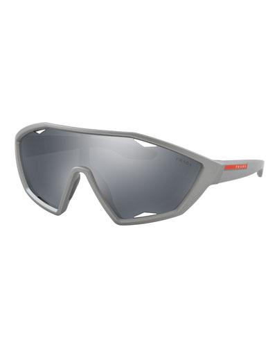 Men's Active Shield Sunglasses  Dark Gray