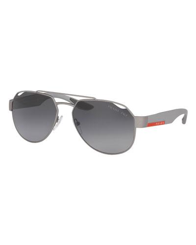 Men's Steel Aviator Sunglasses  Dark Gray