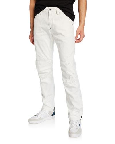 Men's 5622 Zip-Trim Skinny Jeans  White