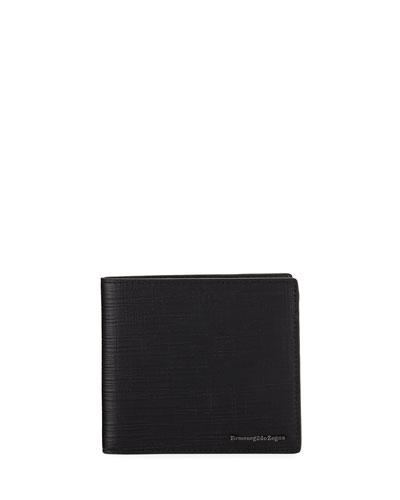 Men's Bi-Fold Lamb/Calf Leather Wallet