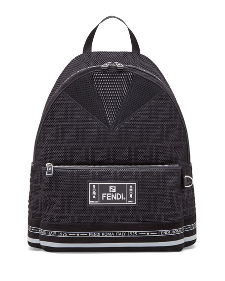 Fendi Men's FF Roma Amor Perforated Backpack