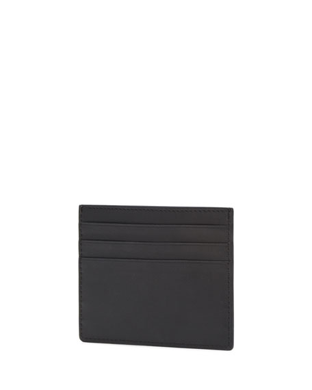 Fendi Men's Monster Two-Tone Leather Card Case