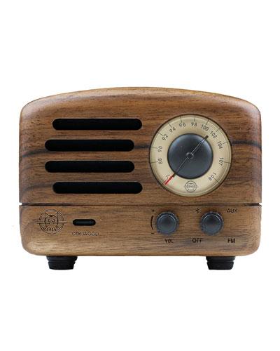 OTR Wood Portable Radio Bluetooth Speaker