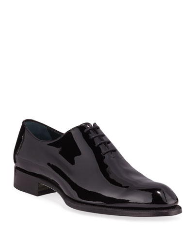 Men's Cardinal Whole-Cut Patent Leather Dress Shoes