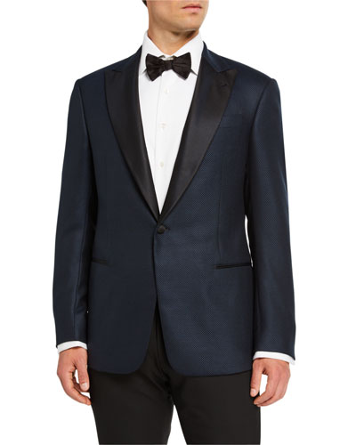 Men's Micro-Design Two-Piece Tuxedo  Navy