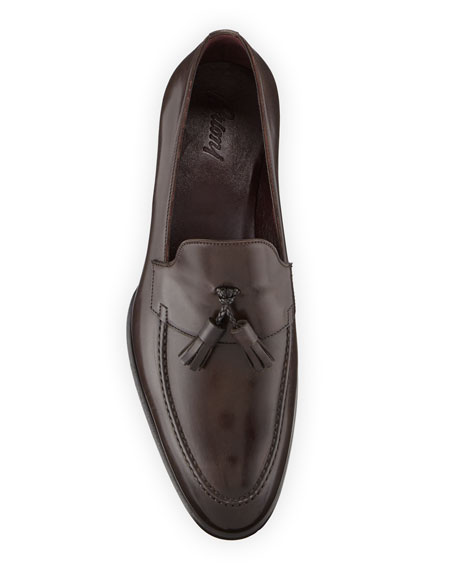 Brioni Men's Aurland Leather Tassel Loafer