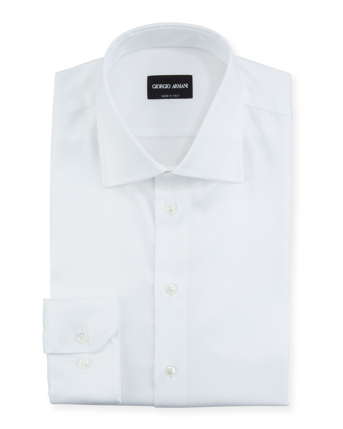 Giorgio Armani Men's Herringbone Dress Shirt