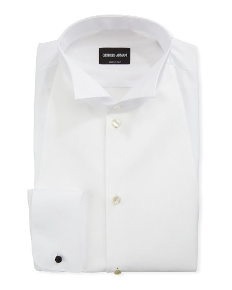Giorgio Armani Men's Bib-Front Formal Shirt