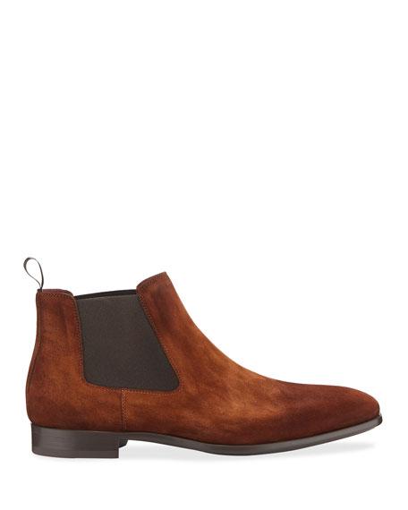 Magnanni Men's Suede Chelsea Boots