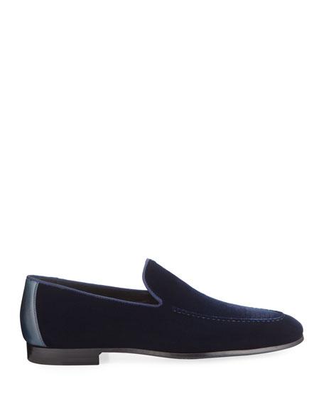 Magnanni Men's Velvet Moc-Toe Loafers