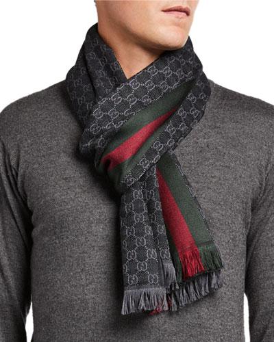 Men's Verbier Silk & Wool Scarf