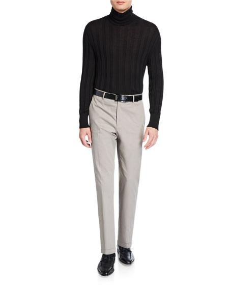 Santorelli Men's Gabardine Straight-Leg Dress Pants