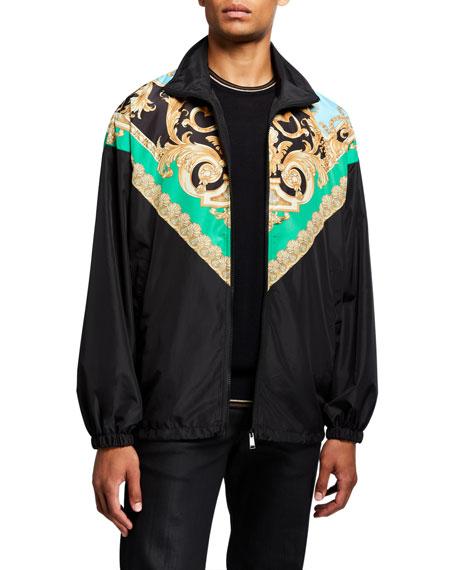 Versace Men's Classical Print Wind-Resistant Jacket