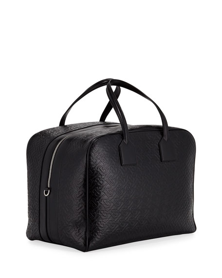 Burberry Men's Medium Leather Monogram Bowling Tote Bag
