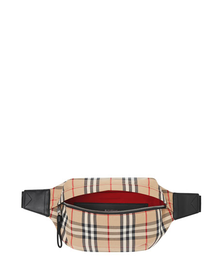 Burberry Men's Vintage Check Nylon Belt Bag/Fanny Pack