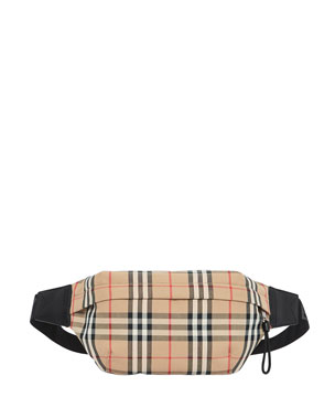 290edbda57a8 Burberry Men s Vintage Check Nylon Belt Bag Fanny Pack