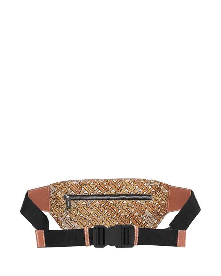 Burberry Men's Nylon TB Monogram Belt Bag/Fanny Pack