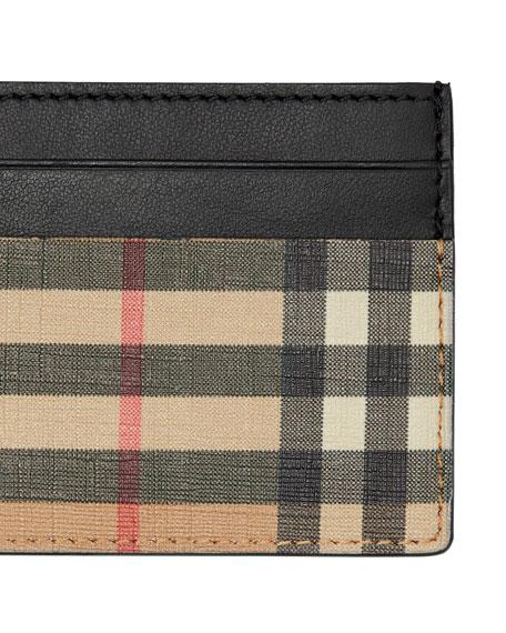 Burberry Men's Sandon Vintage Check Card Case