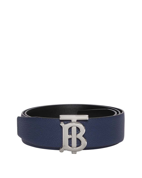 Burberry Men's Reversible TB Logo Belt