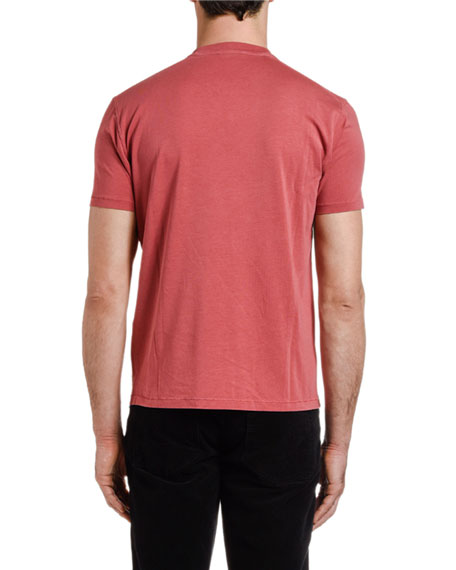 TOM FORD Men's Solid-Knit Crewneck T-Shirt, Red