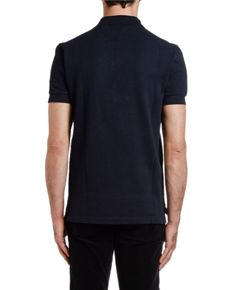 TOM FORD Men's Pique-Knit Polo Shirt, Blue