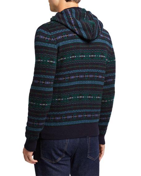 Ralph Lauren Purple Label Men's Cashmere Fair Isle Hoodie Sweater