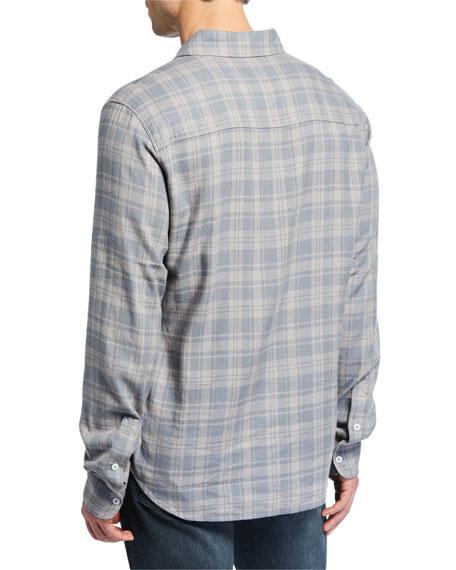 PAIGE Men's Long-Sleeve Contemporary Plaid Sport Shirt