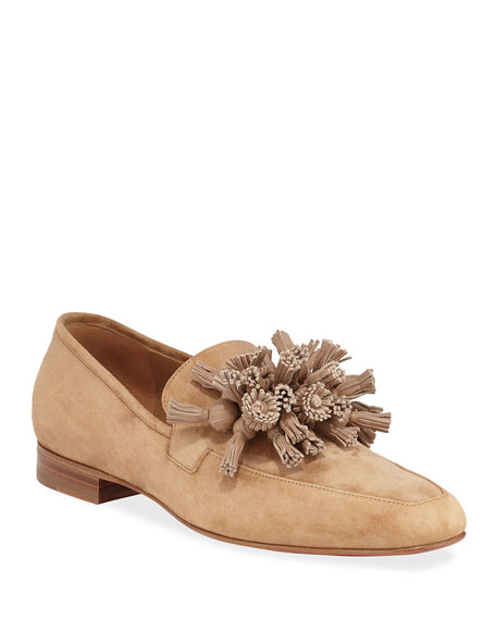 Image 1 of 3: Christian Louboutin Men's Tasselissimo Suede Tassel Loafers